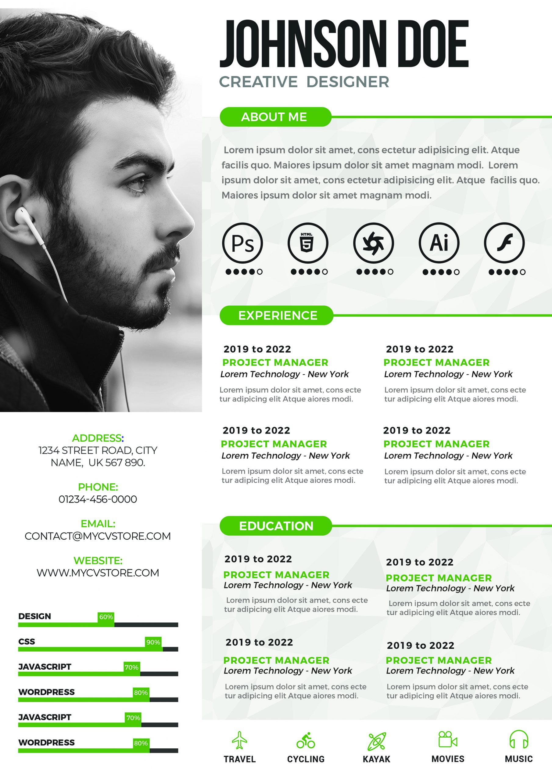 Graphic Designer Resume Fully Editable Modern Creative Resume Cv