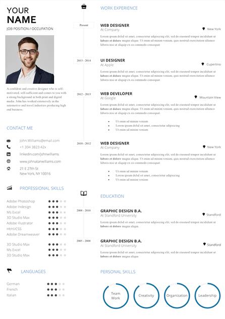Digital Marketing Manager Resume Fully Editable Modern Creative