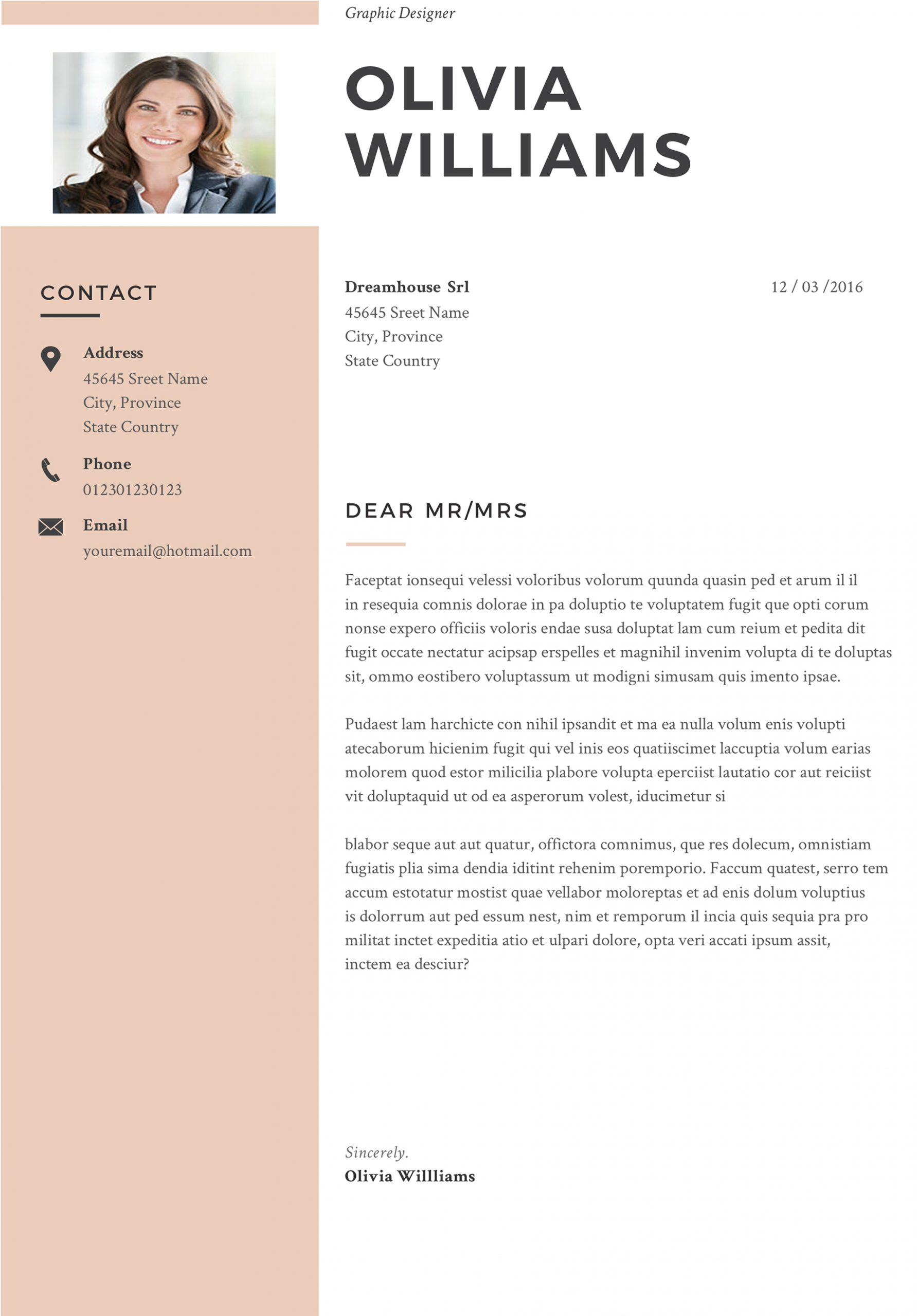 Professional Web Designer Cover Letter Fully Editable Modern