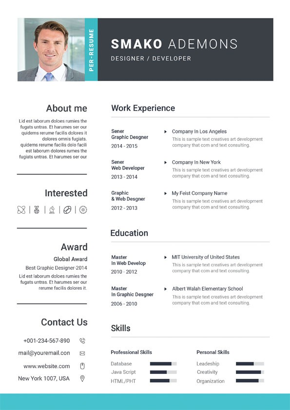 services manager cv
